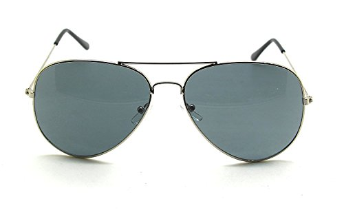 RetroUV Premium Full Mirrored Aviator Sonnenbrille Classic Metal Rahmen Uv400 (Silber Rahmen /...