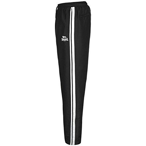 Lonsdale Uomo 2 Pantaloni Della Banda Aprire Hem Tessute Nero/Bianco