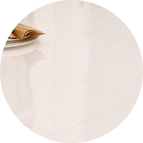 QWM-Extra große Tischdecke Runde Tischdecke, Crystal Plate Tischdecke 90cm Transparente Couchtisch Kleine Tischdecke QWM-Tischtuch ( Farbe : Scrub , größe : Round-70cm )