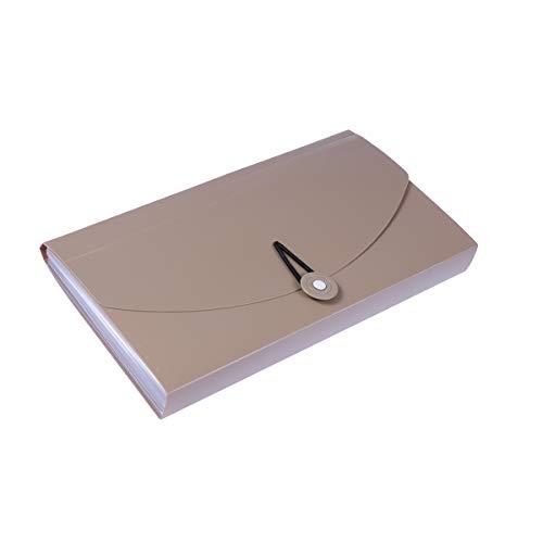 YEAHIBABY Expanding Fächermappe Ordner,kleine Akkordeon-Datei Ordner Organizer mit 13 Taschen für Quittungen Coupons Checks Karten (Khaki) (Datei-erweiterung Kleine)