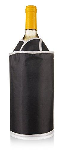 Vacu Vin 38704606 Aktiv Kühler exklusiv  Flaschenkühler, Kunststoff, schwarz -