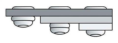 GESIPA Poly Grip Mehrbereichsniete Flachrundkopf 3.2x 8 cm Aluminium mit Stahldorn, 1000 Stück, 1433822