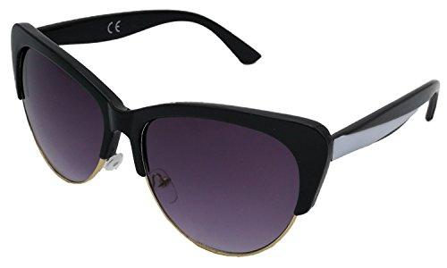 Gafas de Sol Mujer Ojo de Gato - Lentes Ahumadas con Protección 100% Uv400 Categoría 3 - Moda Fashion con Calidad y Precio Económico (Morado)