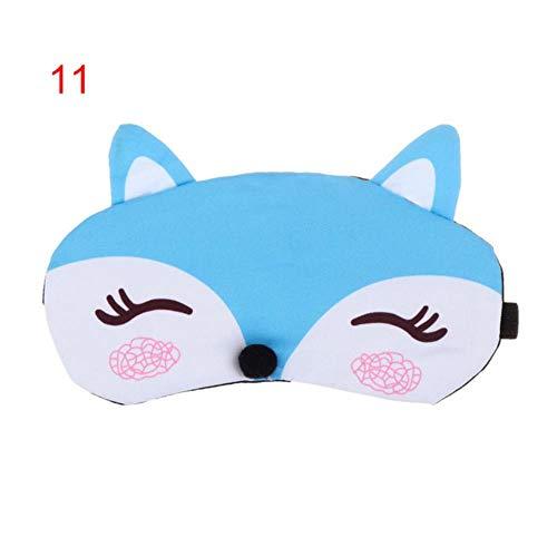 lili 2 stücke Mode Niedlichen Cartoon Fox 3D Schlafmaske Natürliche Entspannen Schlafaugenmaske Weich Gepolsterte Schlaf Reise Schatten Abdeckung Augenbinde, 2 stücke D