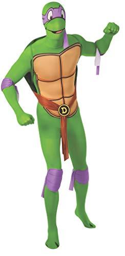 Turtles Teenage Mutant Ninja Kostüm Männer - Rubie's - Offizielles Donatello-Kostüm - Ganzkörper-Stretch-Anzug, Teenage Mutant Ninja Turtles, für Erwachsene, Größe XL