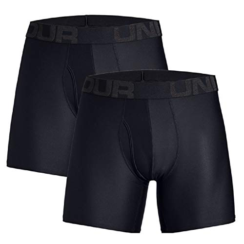 Under Armour Herren Tech 6in 2 Pack Unterhose, Black (001), XXL