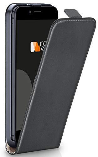moex® Flip Case mit Magnetverschluss [Rundum-Schutz] passend für iPhone 6S / iPhone 6 | 360° Handycover aus feinem Premium Kunst-Leder, Dunkel-Grau - Dunkel Grau Leder