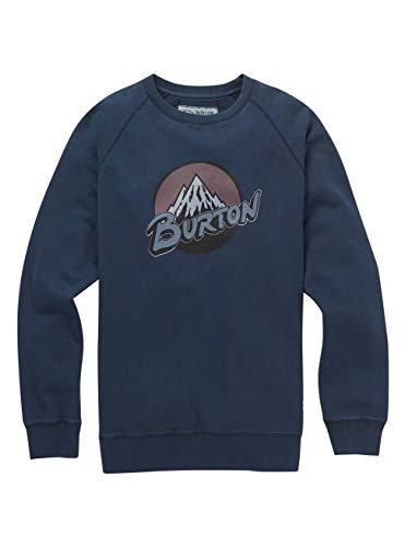 Burton Herren Retro Mountain Organic Crew Sweatshirt, Mood Indigo, L - Retro-sweatshirt