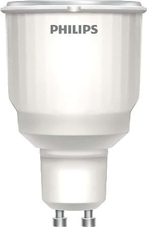 Philips Ampoule Fluocompacte Réflecteur Culot GU10 9 Watts consommés Equivalence incandescence : 20W