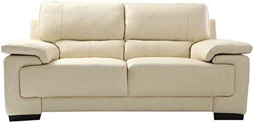 FabHomeDecor Maximus Two Seater Sofa (Cream)