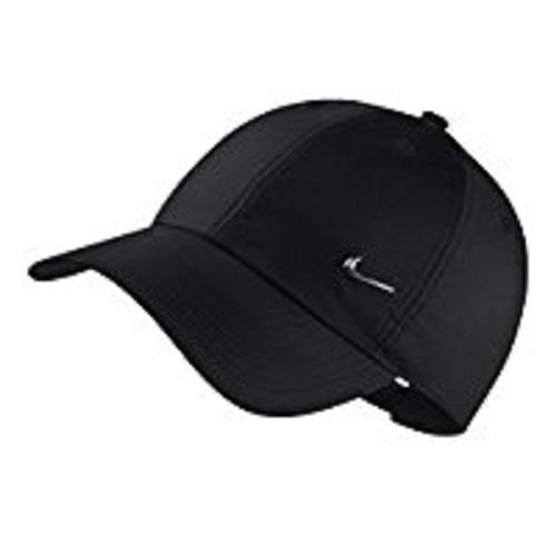 Nike u nsw h86 cap nk metal swoosh, berretto regolabile uomo, nero/argento, taglia unica