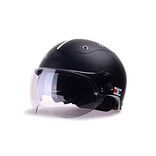 JKLL Casco Mezzo Moto Visiera Parasole a sgancio rapido DOT Approved Half Face Cycling Helmets for Men Women