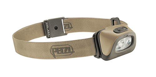 Petzl Erwachsene Stirnlampe Tactikka + RGB Desert One Size