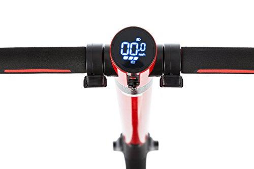 E-Scooter Klappbar Roller Scooter Elektroroller Carbon - Reichweite bis zu 35km 25 km/h P1 PowerOne (Rot) - 3
