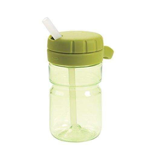 OXO Tot Twist Top Water Bottle, Green, 12 Ounce