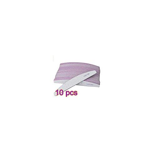 Tia-Ve 10PCS Nail Art Maniküre Polieren Schleifen Puffer Acryl Gel Dateien Körnung 100/180 -