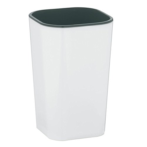 Kela 22591 Nuria Gobelet Plastique Blanc/Gris 7,5 x 7,5 x 12 cm