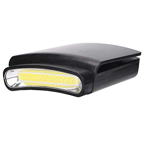 Luz LED para gorra, linterna mini, lámpara de visera con clip, ligera, funciona con pilas para leer, correr, acampar, pescar, ciclismo, trabajo de mano