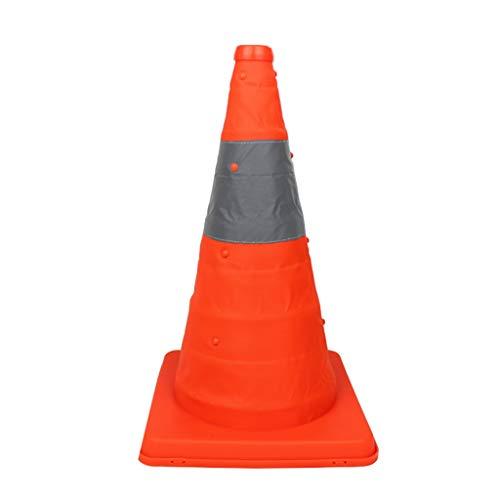 XXW Verkehrskegel Tragbare faltende Straßensperre Kegel Reflektierende Teleskop Auto Sicherheit Kegel Warnung Notfall Eiswürfel Sicherheitskegel (Color : Orange, Größe : 60cm)