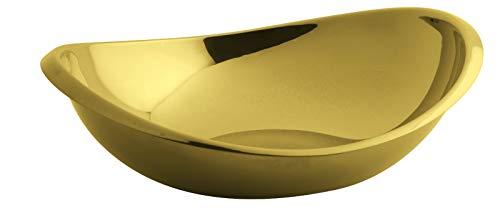 Rosenthal Sambonet 55690G26 Twist Edelstahl/PVD Gold Schüssel oval 26 cm (1 Stück) Sambonet Twist