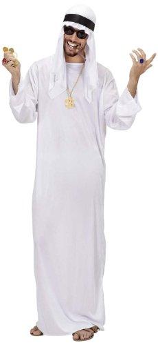 Widmann 75961 - Erwachsenenkostüm Arabischer Scheich, Tunica und Kopfbedeckung (Arabische Kostüme Männer)