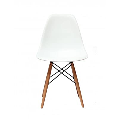 Charles Eames Style DSW 'Eiffel' White Dining Chair - low-cost UK chair store.