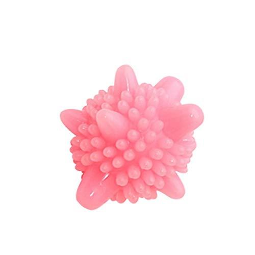 Eternali Home Sterilisation Antistatik Anti-Knot Waschmaschine Waschmaschine Ball Antistatik Anti-geknotete Waschmaschine Wäschekugel (Rosa)