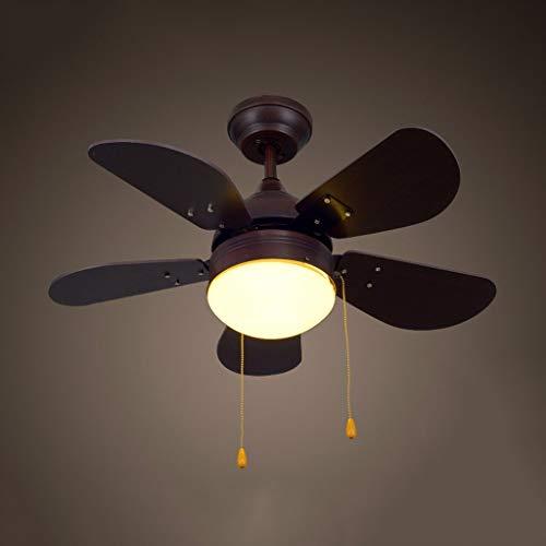 WENYAO Die Erntezeit Antique Deckenventilator Lichter Led Study Lights Schlafzimmer Holz Leaf Fan Kronleuchter - Gold Leaf 12 Licht