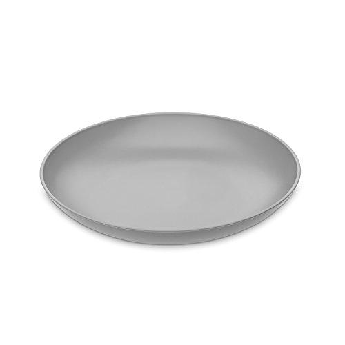 Koziol Rondo Assiette Creuse, Plastique, Plastique, Gris, 20.9 x 20.9 x 3.4 cm