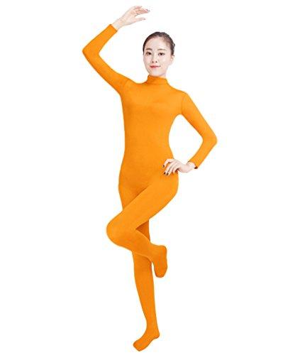 NiSeng Erwachsener und Kind Ganzkörperanzug Anzug Kostüm Ganzkörperanzug Halloween Kostüme Orange XS