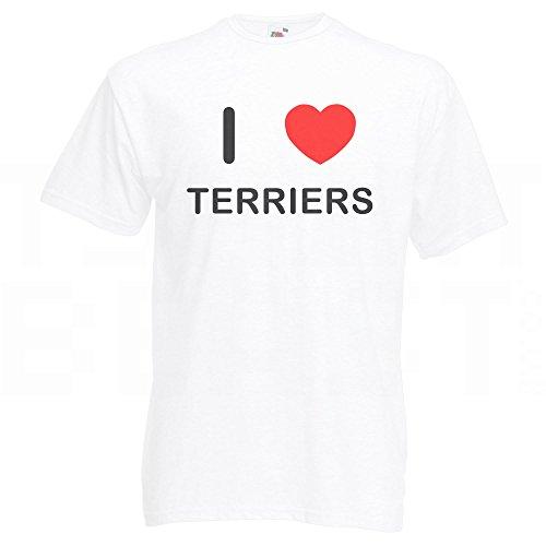 I Love Terriers - T-Shirt Weiß