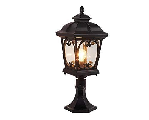 KKCHINA lights Außenpfostenleuchte Aluminium Säule Wasserdicht IP55 E27 Rücklicht Dekoration Garage Pavillon Garten Lampe Pfosten Lampe Landschaftsbeleuchtung