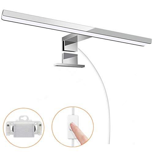 Hengda LED Spiegelleuchte mit Schalter Bad 12W Badleuchte Spiegellampe IP44 Wasserdichte Badlampe Schminklicht für Badezimmer Neutralweiß 60CM