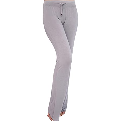 Tkria Sport donna lunghi pantaloni ricreativi Yoga Pants in cotone (L XL XXL)