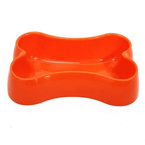 dfhdfsg Orange Universal Hundeschüssel Harz Knochenplatte Hundefutter Schüssel Edelstahl Teller Haustier Wasserspender Haustier Werkzeug