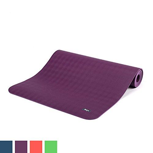 Ultra Grip Kautschuk-Yogamatte ECOPRO DIAMOND, Premium-Matte, extrem rutschfest & extra stark, 100% Natur-Kautschuk, Ökotex 100, 6mm, auch für Hot Yoga, Gymnastik und Pilates