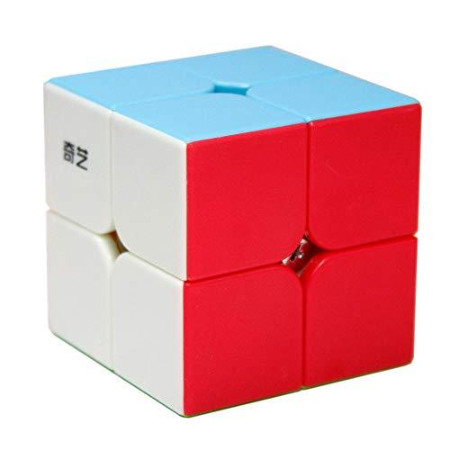 OJIN Qidi S 2x2 Magic Cube 2 Capas 2x2x2 Cube Speed Puzzle Cube Suave Giro Juguete de Cubo (Sin Etiqueta)