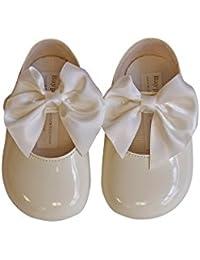 Lujo Británico Hecho Bebé Lindo Estilo Decorativo Español Big Bow Fiestas de bautizo Ocasiones especiales Zapatos