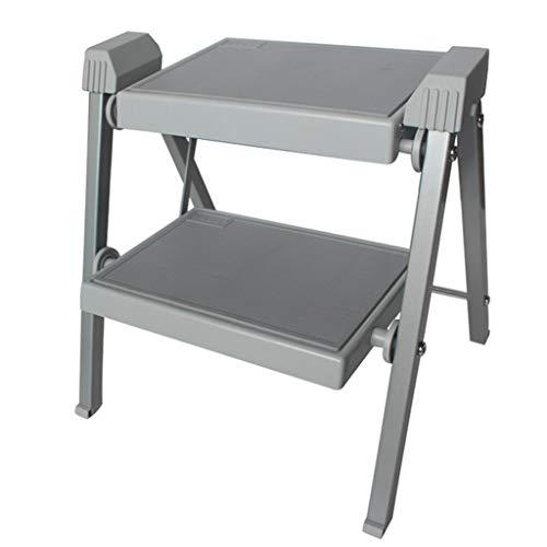 KJZ Metallleiter, Indoor zweistöckige Leiter multifunktionale tragbare Leiter im Freien faltbare Leiter Größe 410 * 370 * 400mm (größe : 410 * 370 * 400MM)