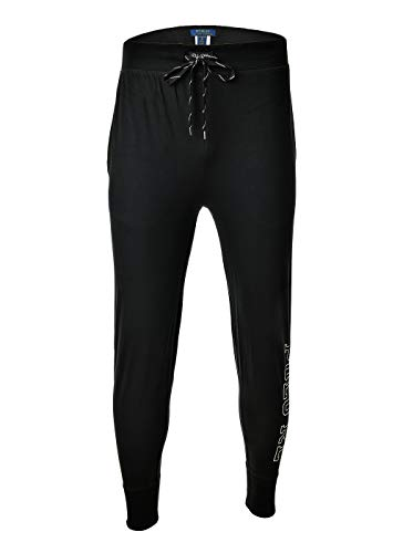 Polo Ralph Lauren Herren Jogginghose - Jogger Pant, Sleep Bottom, Polo RL Logo, lang (schwarz, M (Medium))