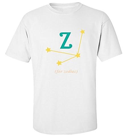 Z for zodiac funny alphabet slogan white cotton printed men