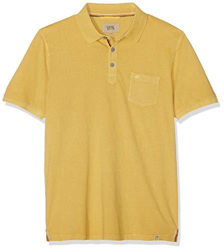 camel active Herren Polo 1/2 Poloshirt, Gelb (Dirty Yellow Core 61), XX-Large