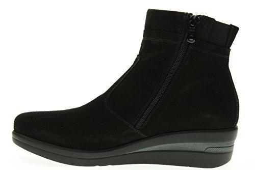 BLACK GARDENS klassischen Frauen Stiefel A616831D / 100 Nero