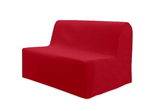Fodera per divano letto in cotone panama rossa