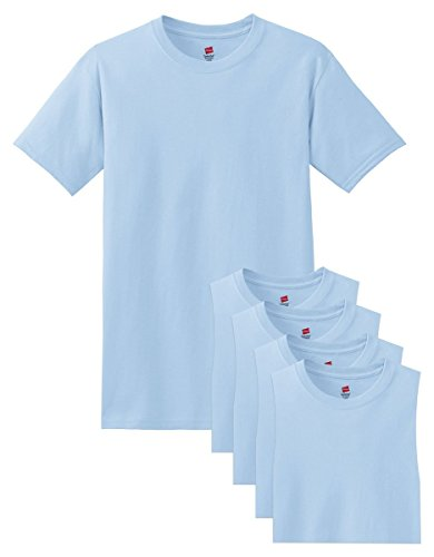 Hanes Mens 5.2 OZ. ComfortSoft Cotton T-Shirt (5280) Light Blue