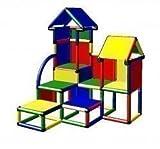Moveandstic DAVID Kletterburg für Drinnen und Draußen mit kleinen Treppenstufen (bunt)