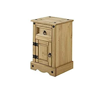 Mercers Furniture Corona Schmal 1 Tür 1 Schublade Nachttisch Holz antique wax 35 x 33 x 58 cm