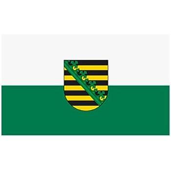 Fahne Flagge Sachsen-Anhalt 30x45 cm mit Stab