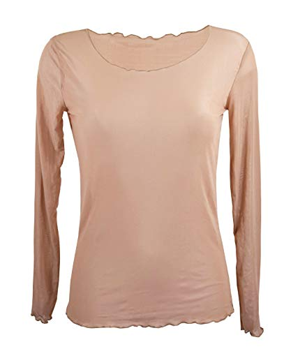 5e2f086772b5 Miss Rouge T-Shirt,Top,Manche Longue,résille,Voile,TU