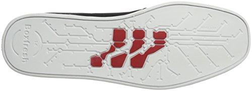Boxfresh Sparko Icn Rip Nyl Blk/Ch Red, chaussons d'intérieur homme Schwarz (Schwarz)